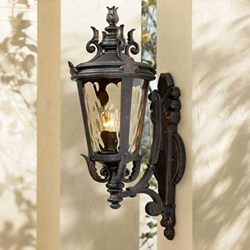 "Casa Marseille 22"" High Bronze Outdoor Wall Light"