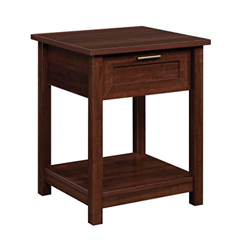 "Sauder Brookland Side Table, L: 19.84"" x W: 18.66"" x H: 23.9"", Select Cherry"