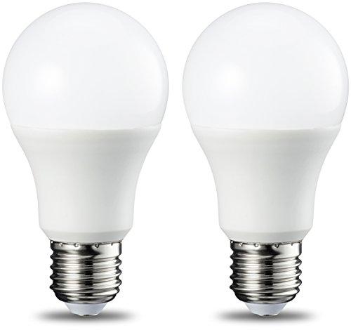 AmazonBasics Ampoule LED E27 A60 avec culot à vis, 9W (équivalent ampoule incandescente 60W), blanc froid - Lot de 2