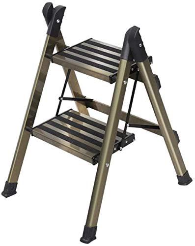 FSZB Taburete Plegable Fino Robusto Taburete de Aluminio de Taburete portátil con empuñadura Conveniente Step STEOL Ladder Multiusos Ladder Telescópica Multi para Interiores al Aire Libre