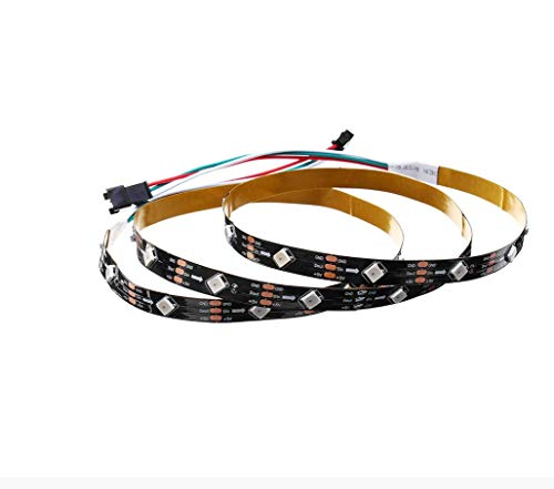 H/A 1m 2m 6W 12W IP20 WS2812 IC SMD5050 Abrigos de módulo no Impermeable Tilt 45 ° RGB LED Lámpara Strip DC5V MENGN (Size : 1M)