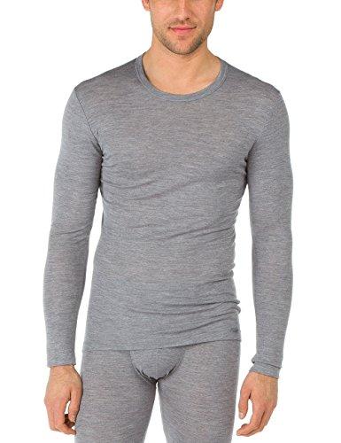 Calida Wol & Silk Sweatshirt voor heren, functioneel ondergoed van scheerwol en zijde