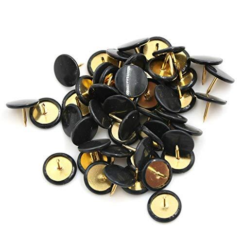 Push-Pins Supertool Reißzwecken, Reißzwecken, mit Kunststoffköpfen und Stahlspitzen für Korktafel, dekorative Pinnwand, Bürokarte, 100 Stück (10 x 10 mm), schwarz