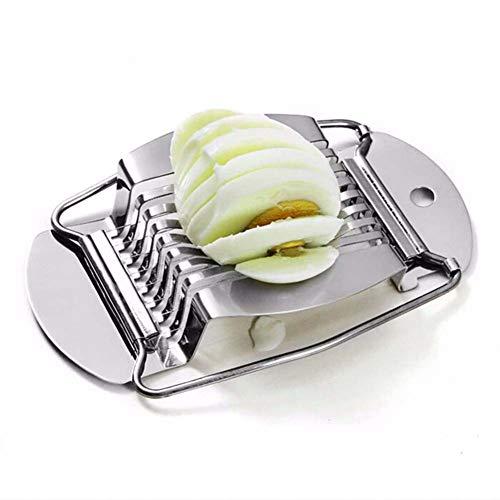 PoeHXtyy Cortador del cortador del huevo del acero inoxidable Cortador del huevo rebanado del corte del huevo