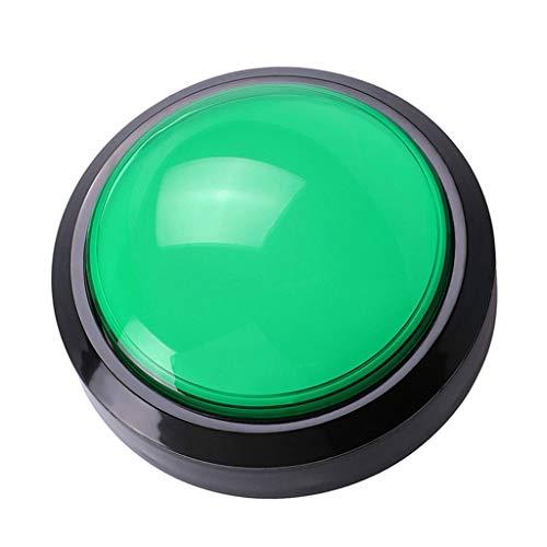 Geneic 100mm gran botón redondo LED iluminado con microswitch para DIY arcada juego piezas de la máquina DC12V gran domo interruptor de luz