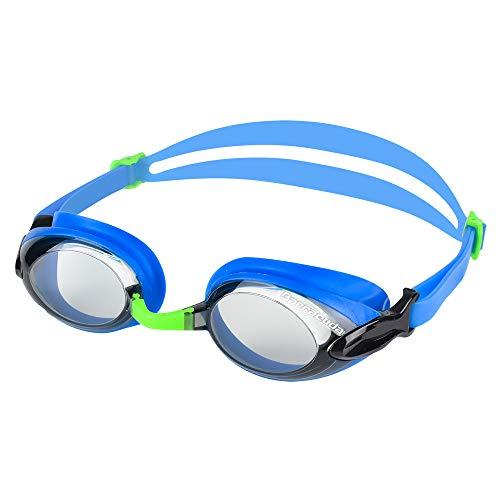 Dr.B Barracuda RX - Optische Schwimmbrille mit Sehstärke für Damen und Herren, 100% UV-Schutz, Anti-Beschlag-Beschichtung #92295 (Blau, 0.0)