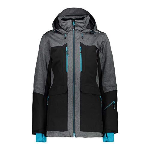 CMP Damen Skijacke Woman Jacket Long Fix Hood 39W1736 Nero 38