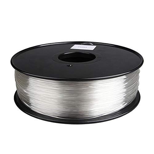 3d Printer Filament, Pmma Acrylic Filament 1.75mm, Pure Transparent and High Light Transmission, 1kg (2.2lb)