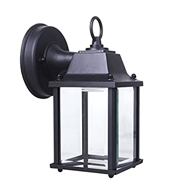 Yeuloum LED Outdoor Wall Lantern Wall Sconce for Porch Light, 9.5W Repalce 75W, 800 Lumen, Water-proof, ETL/ES Rated