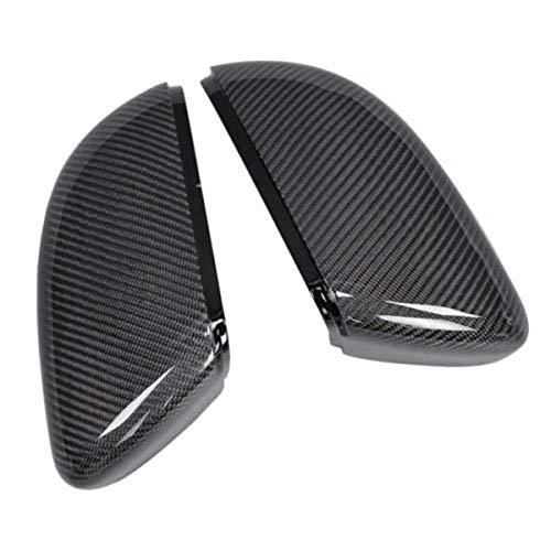 Lfldmj AußenspiegelSeitenspiegelabdeckungen Kappen (Carbon Look) Ersatz Carbon Spiegelkappen, Für Vw Golf 6, Für Jetta Mk6 GTI GTD R20