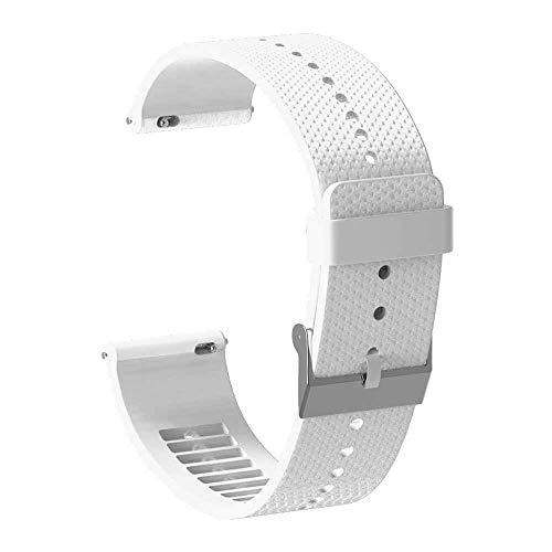 Correa de reloj de silicona de 20 mm Correa de pulsera para accesorios de reloj inteligente Polar Ignite Correa de reloj Pulsera blanca