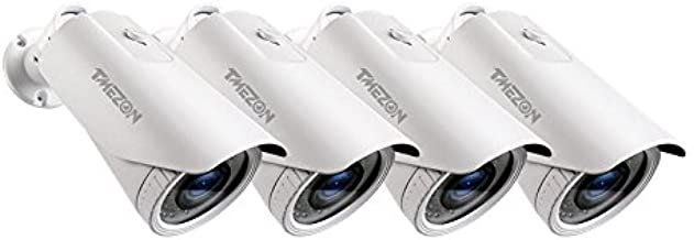 TMEZON 4 Pack OSD Menu AHD/TVI/CVI/VBS 960H Camera 2.0MP 1080P HD 4-In-1 2.8-12mm Varifocal Zoom 42IR LEDs Hybrid Surveill...