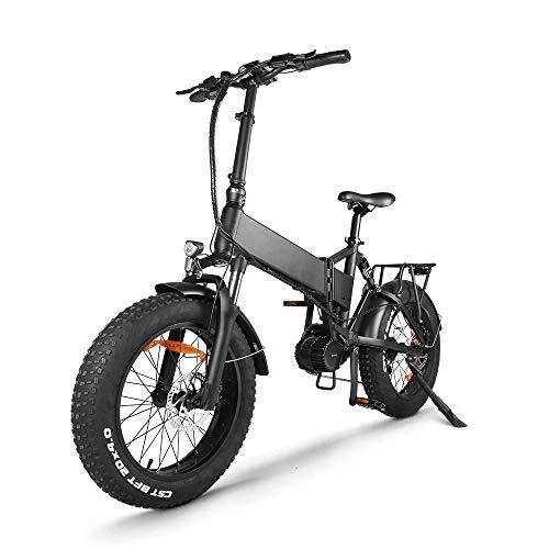 Accolmile 20 Pollici Bicicletta Elettrica Pieghevole per Adulti, Sistema Motore Centrale BAFANG 48V 1000W con Batteria al Litio Rimovibile 17Ah, Bicicletta Elettrica Pieghevole con 9 Velocità