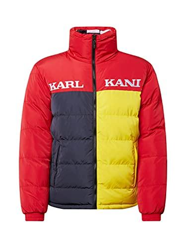 Karl Kani Chaqueta con cierre de bloque reversible., rojo, M