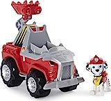 PAW Patrol Dino Rescue Marshall's Deluxe Rev Up Vehículo con Figura de Dinosaurio Misterioso