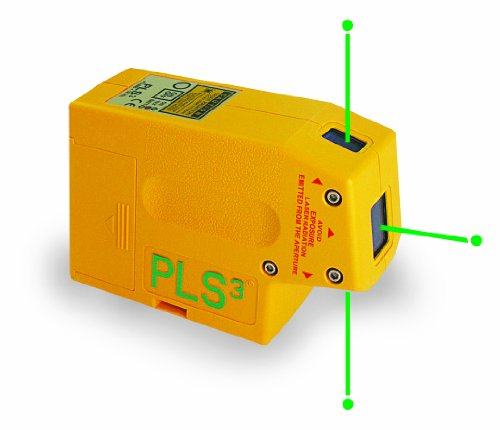PLS3 3-Point Green Beam Laser Level PLS-60595 by Pacific Laser Systems