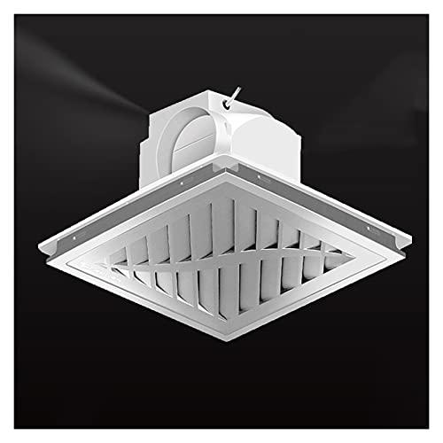 Ventola di scarico Ventola di ventilazione con condotto da soffitto integrato 30 × 3 0CM. Ventilatore speciale di scarico del soffitto per soffietto di alluminio con valvola di ritegno, basso rumore e