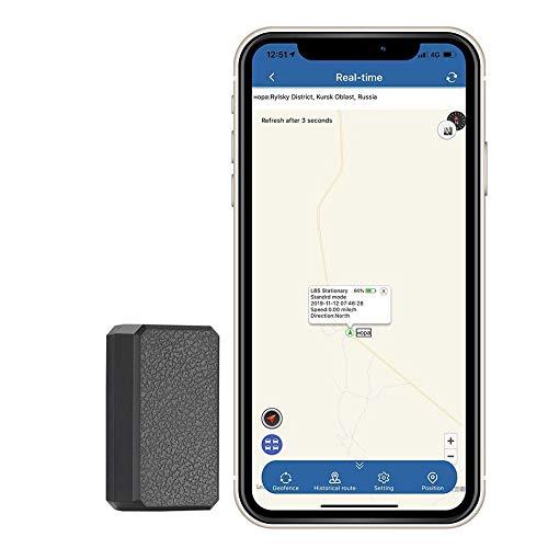 Mini-GPS-Tracker, GPS-Tracker Anti-Diebstahl-GPS-Tracking-Gerät SMS Locator Globale Echtzeit-Tracking für Auto/Fahrzeug/Motorrad/Kinder/Geldbörse/Dokumente/Taschen mit App für iOS und Android