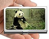 Estuche para tarjetas de visita, onesie Animal panda Estuche para tarjetas de visita (acero inoxidable)