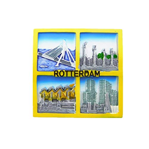 Magneti per FrigoriferoCalamite da Frigo Viaggio Fridge Magnet Souvenir Europa Paesi Bassi Rotterdam
