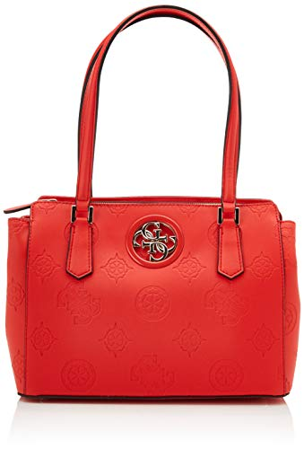 Guess Damen Open Road Luxury Satchel Klassisch, Rosso, Taglia Unica