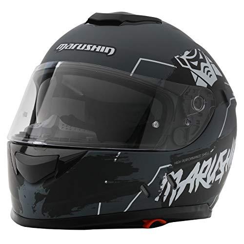 Marushin 889 Comfort Warrior Motorrad Helm Integralhelm sportliche Tourenfahre, L, Mattblack