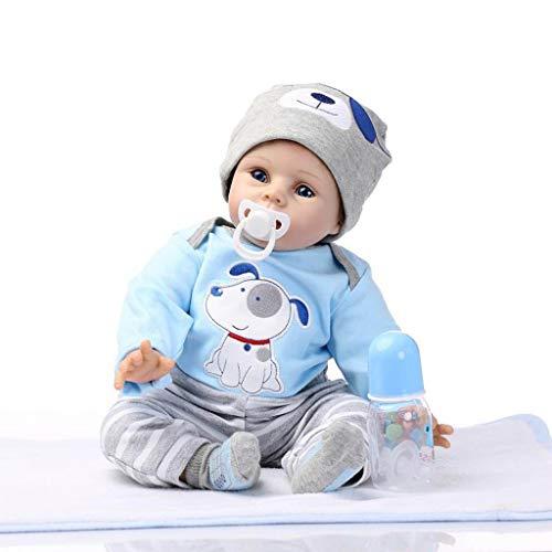 Cgration 55 cm de aspecto realista, juguete de silicona para el cuidado del recién nacido para niños y ancianos, regalo de Navidad