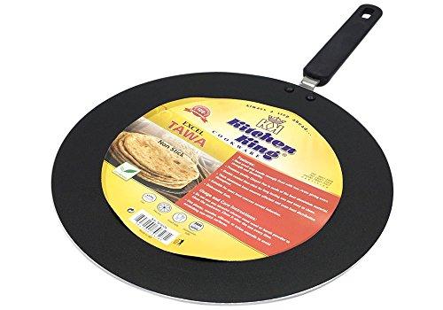 Kitchen King Excel TAWA - Sartén plana para tortitas, resistente, Excel Tawa 30cm/12inch