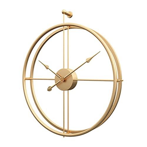DXMGZ Reloj de Pared Redondo Nórdico de 50 Cm, Reloj de Pared Artesanal de Cuarzo Simple Moderno, Reloj de Pared Decorativo...