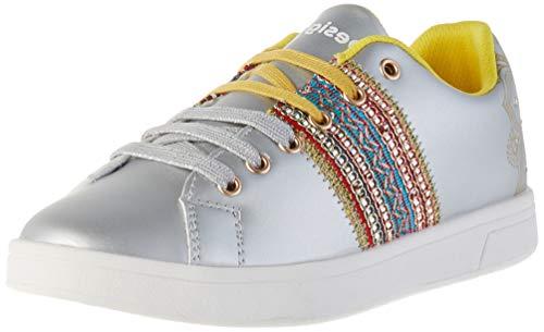 Desigual Shoes Cosmic Exotic Moon, Zapatillas Mujer, Plata 2004, 36 EU