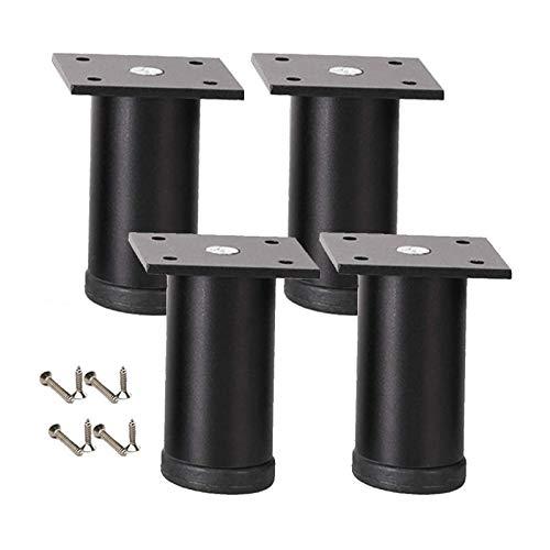 XBSXP 4 verstellbare Metall möbelfüße, Möbelbeine aus Aluminiumlegierung Tischbeine Sofa Beine Bettbeine Badezimmer TV-Schrankbeine Couchtischbeine Stützbeine mit Schrauben (18 cm)