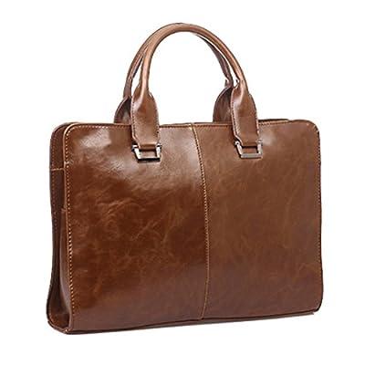 Sac bandoulière, itechor hommes PU cuir sac bandoulière sac à main sacoche vintage Business Bag