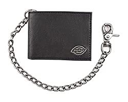 top 10 wallets with chains Dickies Men's Double Chain Wallet – High Security, Classic with ID Window and Credit Card Pocket…