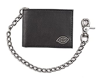 Dickies Men s Bifold Chain Classic Black One Size