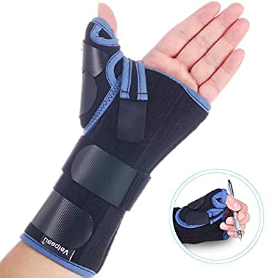 Velpeau Wrist Brace with Thumb Spica Splint for De Quervain's Tenosynovitis, Carpal Tunnel Pain, Stabilizer for Tendonitis, Arthritis, Sprains & Fracture Forearm Support Cast (Regular, Left Hand -M)