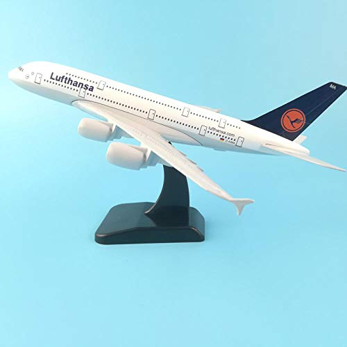 FJCY Modelo de avión Modelo de avión Lufthansa Airbus A380 1: 200 Metal Fundido a presión 20 cm