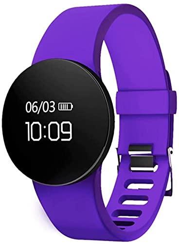 Smartwatches Smart Wristband Fitness Tracker Monitor de ritmo cardíaco Monitor de presión arterial Monitor de sueño Podómetro Rastreador de actividad Pulsera inteligente (Color: Púrpura)
