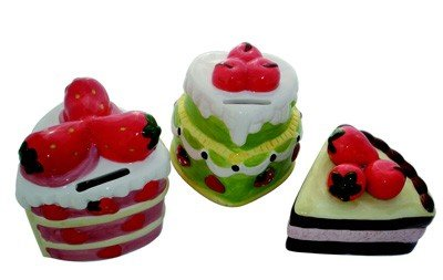 DISOK - Hucha En Forma De Pastel - Huchas Cupcake Detalles Bodas. Oferta hasta Agotar Existencias!
