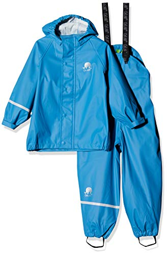 CeLaVi baby-jongens tweedelige regenpak in vele kleuren regenjas, blauw, 80
