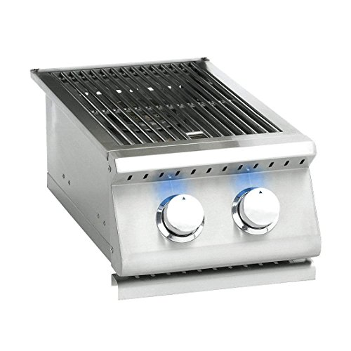 Summerset Sizzler Pro Series Built-in Double Side Burner (SIZPRO-SB2-LP), Propane