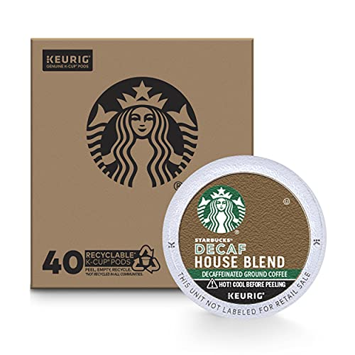 Starbucks Decaf K-Cup Coffee Pods, House Blend for Keurig Brewers, 40 Count