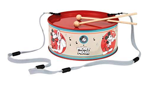 Bolz Maus Enjoyyourcamera-Tambor de Chapa (diámetro: 20 cm, 2 mazas, Instrumento Musical para niños a Partir de 3 años), diseño de Mickey Mouse, Color carbón, (SIMM Spielwaren GmbH 52635)