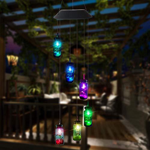 Flushzing LED-Leuchten, Solar, Windspiele, Glockenspiele, Solar, Farbwechsel, Kronleuchter, Lichterketten, Gebraucht, Garten, Balkon, Dekoration, Balkon, Hinterhof, (Farblichter)