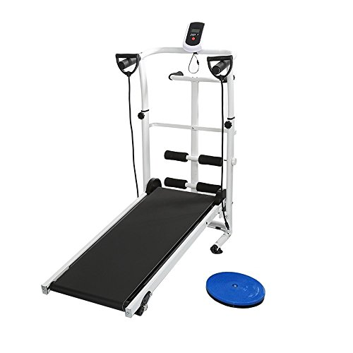 Manuale Tapis Roulant, con Display a LED Running, Sit-Up e Whirling Fitness Famiglia 145 * 54 * 110 cm (Nero)