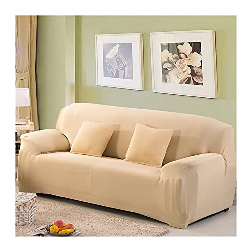 OYZK Massivfarbsofa-Cover, Stretch Seat Couch Couch Couch Cover LoveTeat Funiture Slipcovers (Color : Cream, Specification : AA 140 185cm)