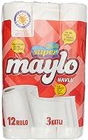 Süper Maylo 3 Katlı Kağıt Havlu 12'Li, 1 Paket (1 X 12 Adet)