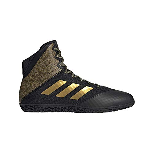 adidas Mat Wizard Hype Black/Gold Wrestling Shoes 9