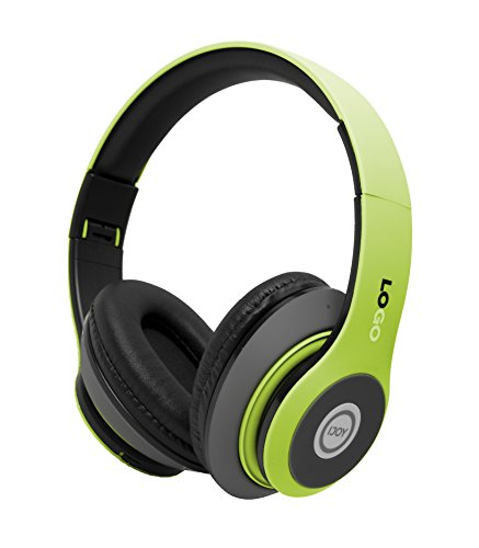 iJoy Matte Finish Premium Rechargeable Wireless Headphones Bluetooth Over Ear Headphones Foldable Headset with Mic (SRG-Lime)