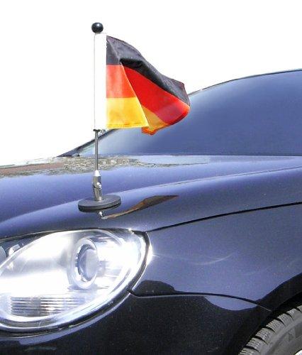 DIPLOMAT magnetisch haftender Autofahnen-Ständer 1 Deutschland mit Super-Magnet für Ihre Autoflaggen - Auto Fahne & Flagge