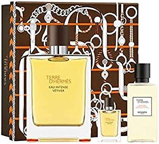 Hermes Terre D'Hermes Eau Intense Vetiver Eau de Parfum 100ml+ 5ml+40ml Hair & Sg Set
